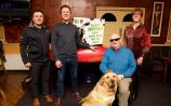 David McCormack with Seamus Murtagh, Jim Heavy with his Dog Yacob and Anne Hartnett-Murtagh at the launch of Route Canal 144 on Saturday night in Clondra PICTURE: MICHELLE GHEE