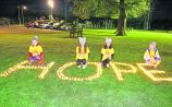 Laoise Hopkins, Molly and Katie Nevin, and Ava Hopkins at the 2018 Longford Darkness into Light Walk. The 2019 DIL Walk is on Saturday, May 11 at 4.15am in The Mall Picture: Shelley Corcoran
