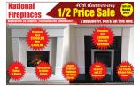 Massive 40th Anniversary half price sale at National Fireplaces in Aughnacliffe, Co Longford