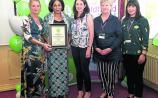 At the presentation of the NationalHealthy Ireland award to Harmony House Community Centre: Tir na nÓg preschool were Geraldine McKeon (staff member), Olabisi Ogunsakin (centre manager), Orla McGowan