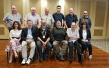Pictured at a  group meeting in 2019 were - Back Row l to r: Paddy Coughlan, Aengus Manion, Martin Moran, Padraig Lowry Peter Gohery, Geroid Hurley. Front row: Dr Gina Dowd, Joe Bracken, Deputy Mayor