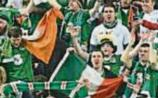Applauding the Irish soccer fans
