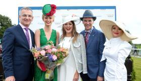 GALLERY | Former Dublin Rose Maria Coughlan wins Best Dressed Lady at Kilbeggan Races