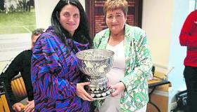 GALLERY | Galway's Christine Gleeson is first winner of inaugural Peter Kelly Perpetual Trophy  at Longford Tennis Club