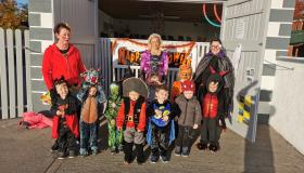 Halloween fancy dress fun and frights  at Little Rascals Corner in Aughnacliffe