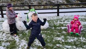 Snowy Longford Gallery 3: Wonderful children of Teach Leanbh, Ballinalee enjoying the snow