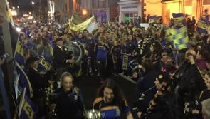 Thousands of ecstatic Longford fans welcome home their heroic All-Ireland champions