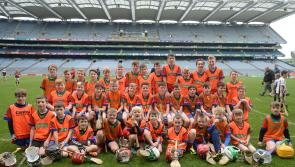 Young Offaly hurlers take over Croke Park