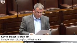 Longford/Westmeath TD Kevin 'Boxer' Moran makes  maiden Dáil speech