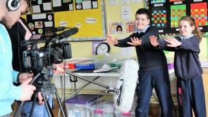 Photo Gallery: RTE arrive in Longford to film excited Killoe pupils on their Operation Transformation