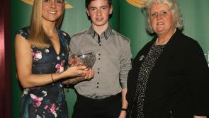 Talented Longford athlete Cian McPhillips presented with Emerald Crystal Juvenile Star Award