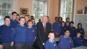 Late Martin McGuinness visited St Mel's College, Longford in 2011 during Presidential election campaign