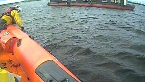 Lough Ree RNLI assist three people aboard grounded 56-foot barge