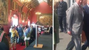 Longford Heritage Hero Matt Farrell meets The Prince of Wales and Duchess of Cornwall in Kilkenny Castle