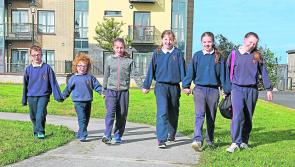 Gaelscoil Longfoirt celebrates striding on National Walk to School Day