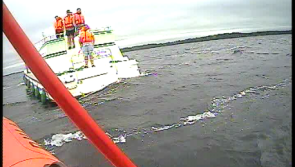 Lough Ree RNLI assist ten people aboard two grounded cruisers
