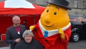 Longford man's close shave from Mr Tayto in aid of Bumbleance at Vintage Club show