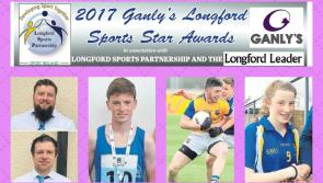 Four shortlisted for  Ganly's Longford Sports Star of the Month Award for May