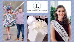 Longford milliner Luke Norton designs headpiece for Ottawa Rose Vanessa Foran