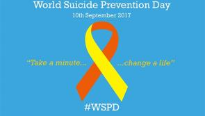'Take a minute, change a life' on World Suicide Prevention Day 2017