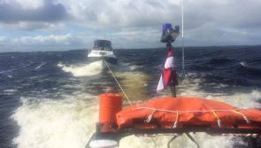 Video: Lough Ree RNLI rescues five people aboard cruiser drifting towards rocks