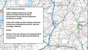 The route from Cork and Munster to the National Ploughing Championships in Tullamore