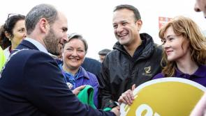 Giving Leo socks of it at #Ploughing17