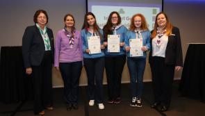 Longford girls receive highest Girl Guide Award