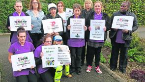 Longford nursery takes part in symbolic walkout over low pay for childcare workers