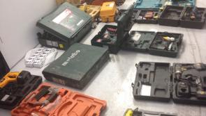 Gardai recover huge amount of stolen  power tools at Midlands checkpoint