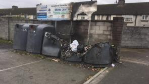 Recycling bins at Annaly Car Park in Longford town burned on Halloween night