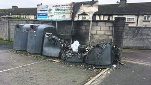 Longford town recycling bank destroyed by fire