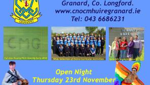 Cnoc Mhuire Secondary School, Granard Open Evening & Enrolment for September 2018