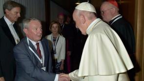 Longford councillor attends conference in Rome and meets Pope Francis