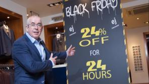 Prices will be slashed by 24% for 24 hours at EJ Menswear on 'Black Friday'