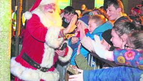 Santa Claus switches on Longford's Christmas lights