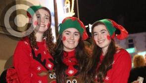 Pictures:  Great excitement in Edgeworthstown as Christmas lights switched on!