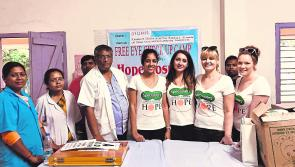 Longford  support for Specsavers €11,000 aid mission to Kolkata