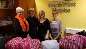 Longford ladies selling lip balm with all profits going to North West Hospice