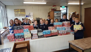 Great response to Christmas Shoe box appeal at Longford's Templemichael College