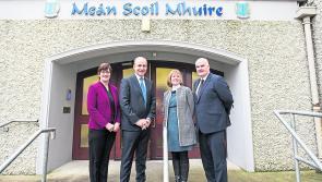 Fianna Fáil leader takes in visit to Longford's Meán Scoil Mhuire