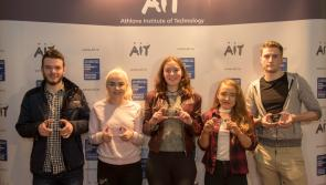 Ballymahon high achiever Stephen Mulledy among inaugural recipients of AIT Scholarship of Excellence