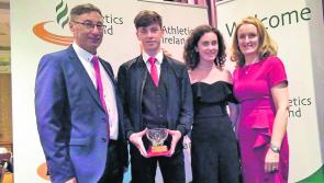 Cian McPhillips honoured by Athletics Ireland as Longford's Star juvenile award winner for second consecutive year