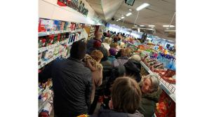 Shopping mania hits Longford: Lengthy queues in Kane's Costcutter, Edgeworthstown as people stock up on essential supplies