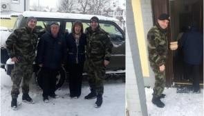 Troops assist with delivery of meals in Longford