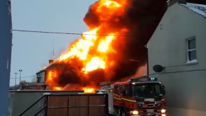 WATCH: Long-standing Midlands business burns to the ground during snow storm