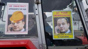 Longford wind farm  opponents plead with Leo Vardakar to answer their call during 2018 Lanesboro St Patrick's Day parade
