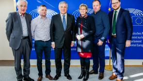 Longford Fine Gael councillors meet President of the European Parliament Antonio Tajani in Brussels