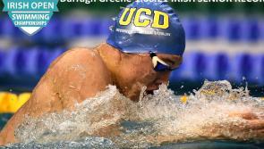 Longford swimming sensation Darragh Greene sets a new Irish Senior record in winning the 100m Breaststroke at the Irish Open