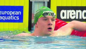 Bronze medal for Longford swimmer Gerry Quinn in 100m Freestyle at the Irish Open